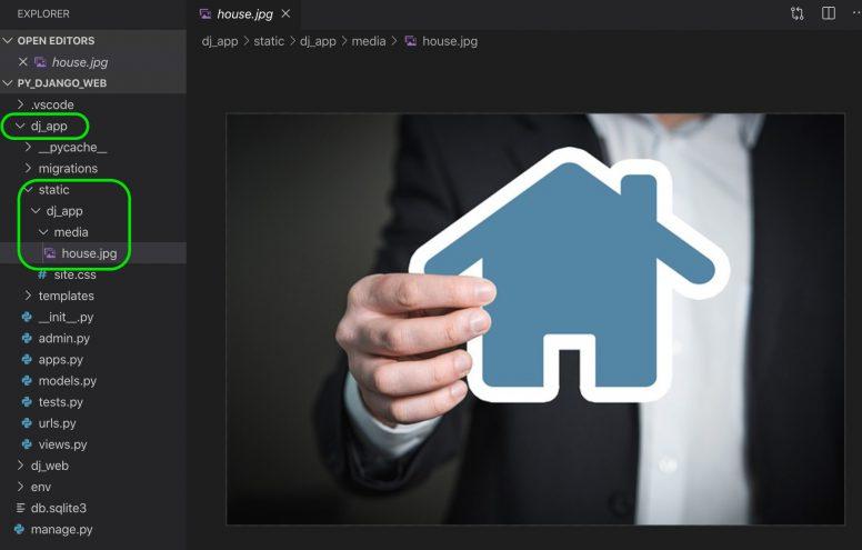 Adding image to Python Django web app