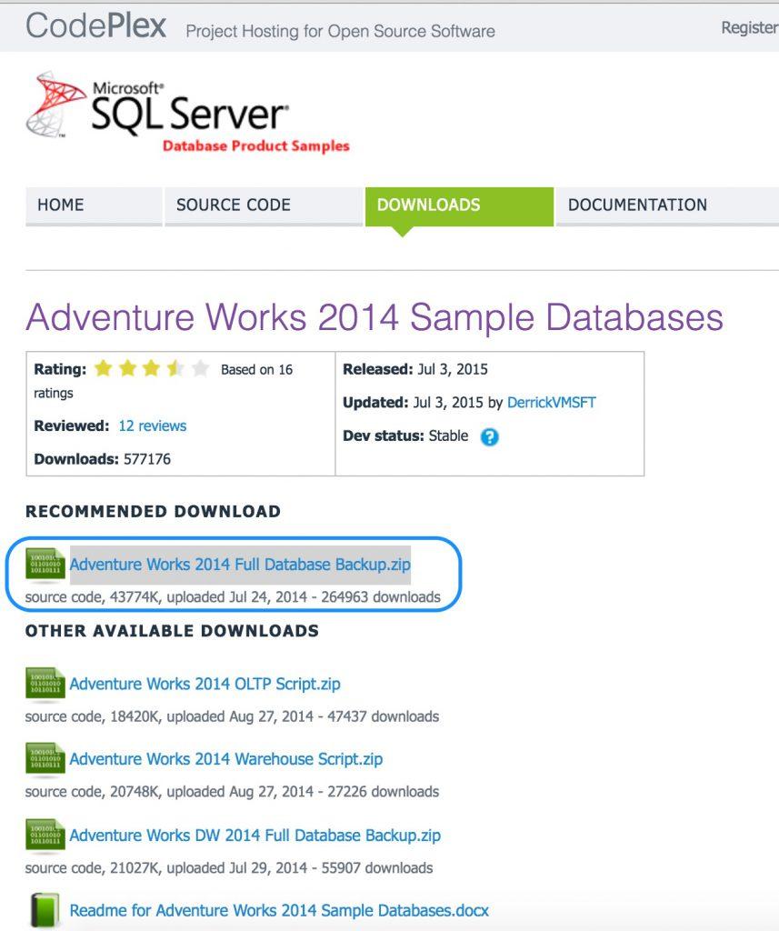 AdventureWorks Sample Database