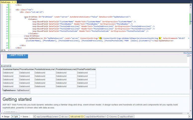 Bootstrap In ASP.NET GirdView 01