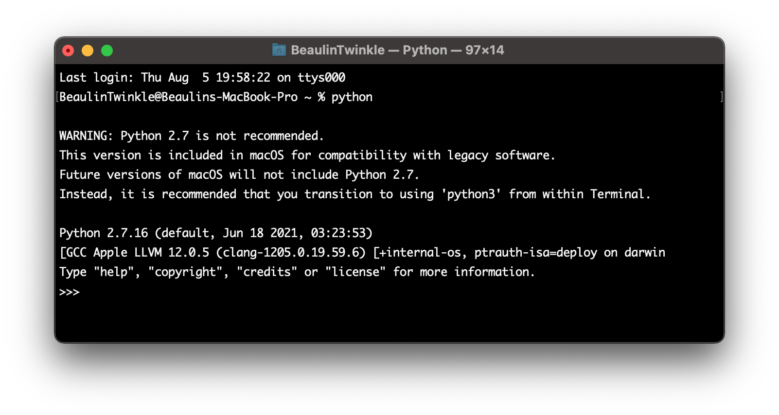 Check If Python Is Pre-installed On Your MacOS