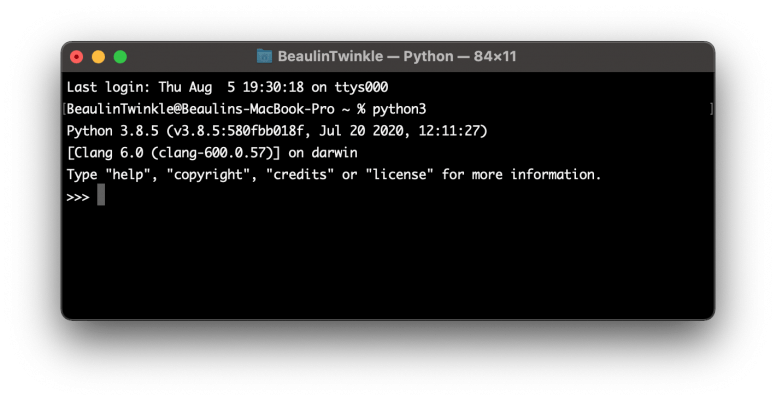 Check If Python 3 Is Pre-installed On Your MacOS