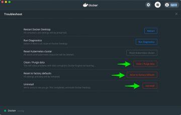 Clean way to uninstall Docker on macOS