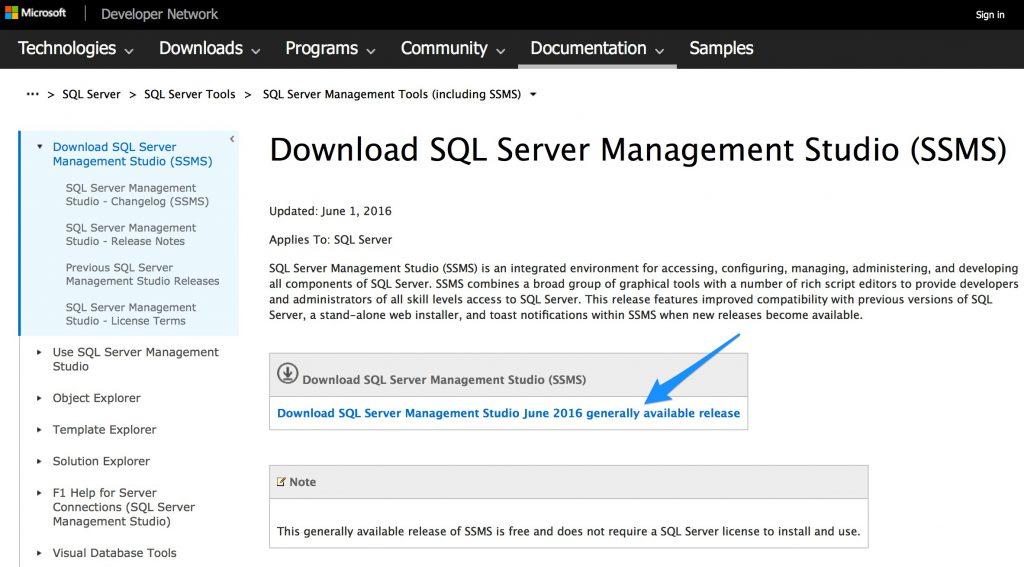 Download SQL Server Management Studio SSMS