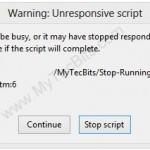 Firefox-UnResponsive-Script-Error