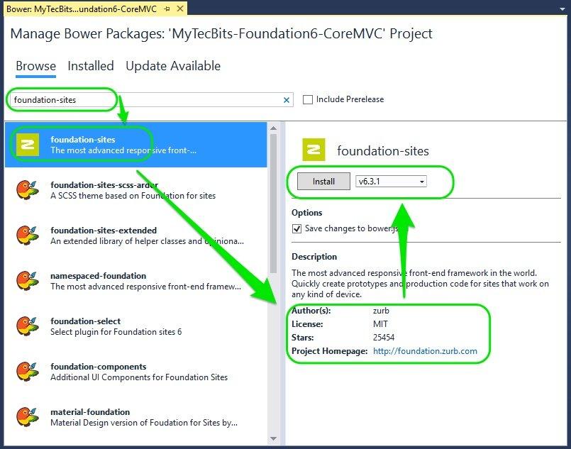 Zurb Foundation 6 with ASP.NET Core MVC – Step by Step   My Tec Bits