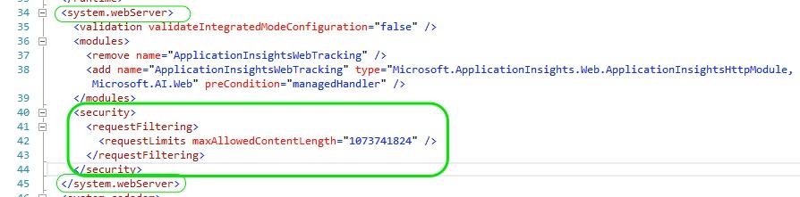 HTTP Error 404.13 Solution