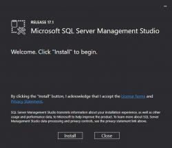 Installing SQL Server Management Studio SSMS