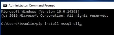 MSSQL-CLI Installation