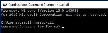 MSSQL-CLI Installation verification