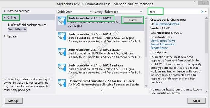 Zurb Foundation 4 with ASP.NET MVC 4 - 006