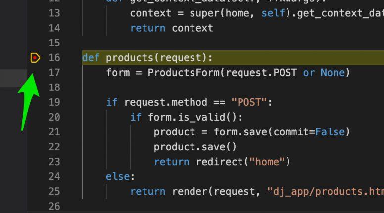 Python Django Breakpoint debugging