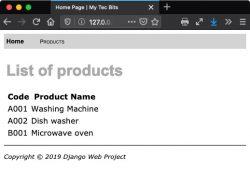 Using database in Python Django website