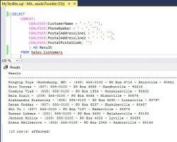 SQL Using CONCAT