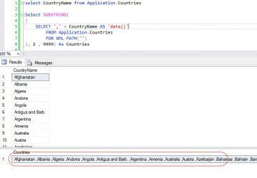 SQL Server Concatenate Multiple Rows into String 01
