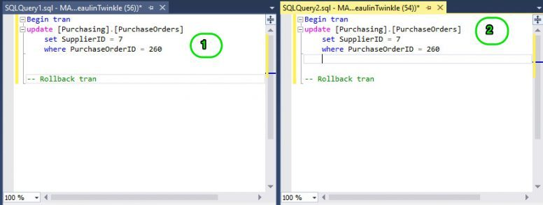 Simulating Deadlocks And Blocks In SQL Server