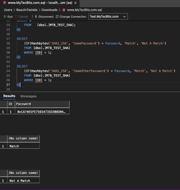 SHA2 256 hash code matching