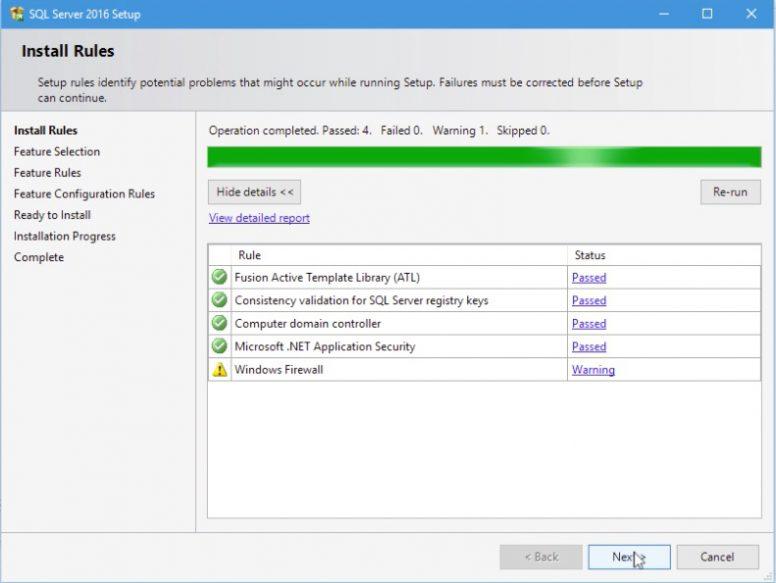 SQL Server 2016 Installation Step 07