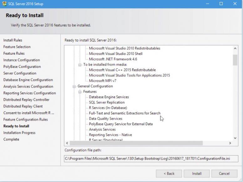 SQL Server 2016 Installation Step 16