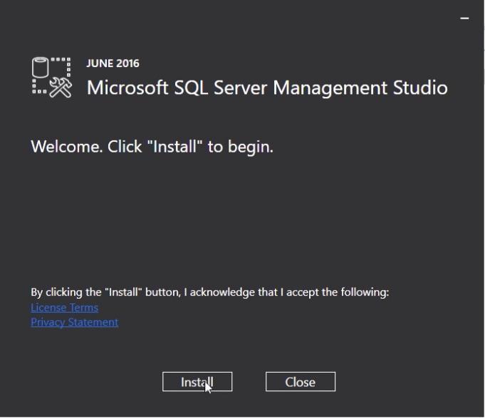 SQL Server 2016 SSMS Installation Step 01