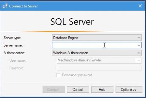 SQL Server 2016 Management Studio