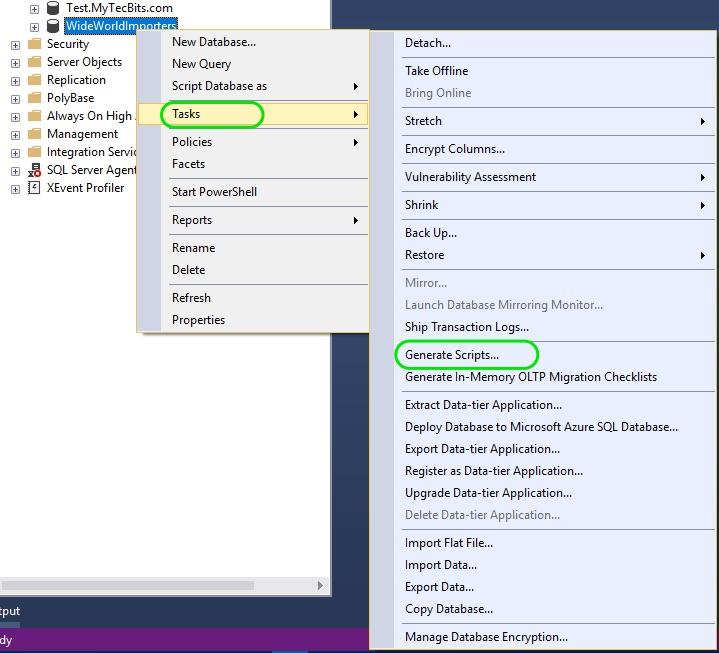 Auto Generate INSERT Statements in SQL Server 01