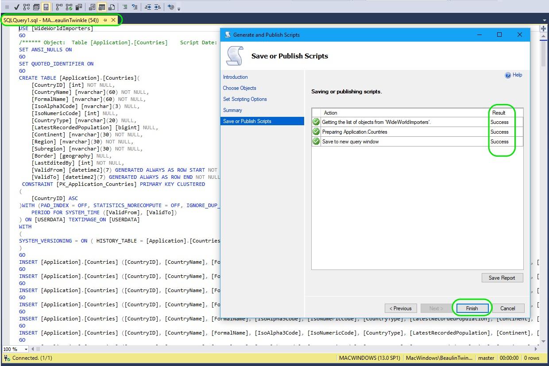 Auto Generate INSERT Statements in SQL Server 05