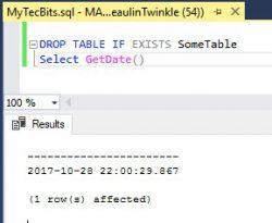 SQL Server DROP IF EXISTS 01