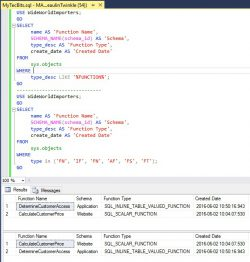 SQL Server Search And Find All User Defined Functions UDF 01