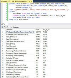 SQL Server Find Size Of Tables 01