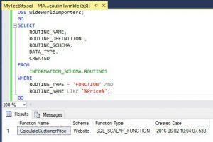 SQL Server Find User Defined Function By Name 02