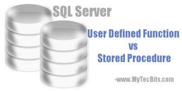 Function vs Stored Procedure in SQL Server