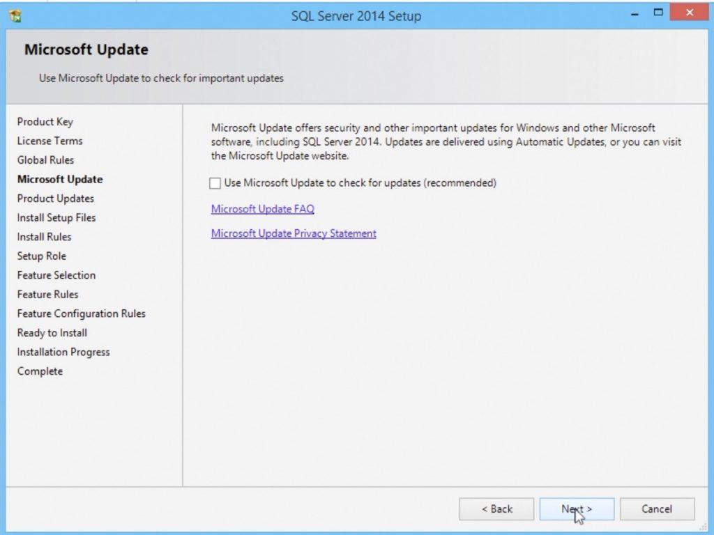 SQL Server 2014 Installation