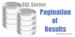 Pagination of results in SQL Server