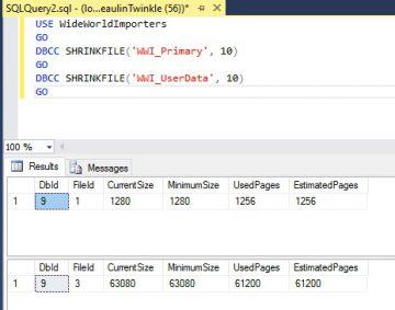 sql server - shrink database file 02