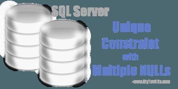 SQL Server unique constraint that allow multiple nulls
