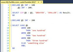 After Formatting SQL Statements in SSMS