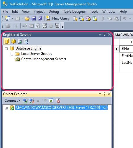 SSMS Registered Servers