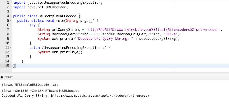 URL Decoding Using Java