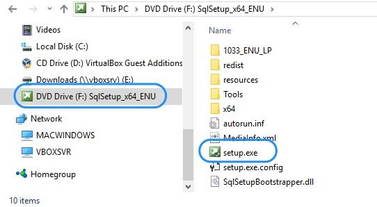 Upgrade SQL Server - Mount ISO