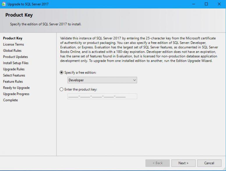 Upgrade SQL Server - Upgrade Instance
