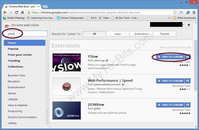 YSlow On Chrome 1