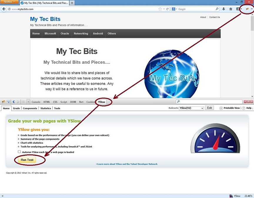 YSlow On Firefox 4