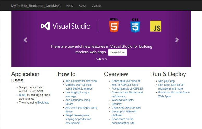 Bootstrap In ASP.NET Core MVC 03a