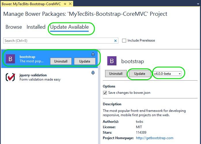 bootstrap asp.net core mvc