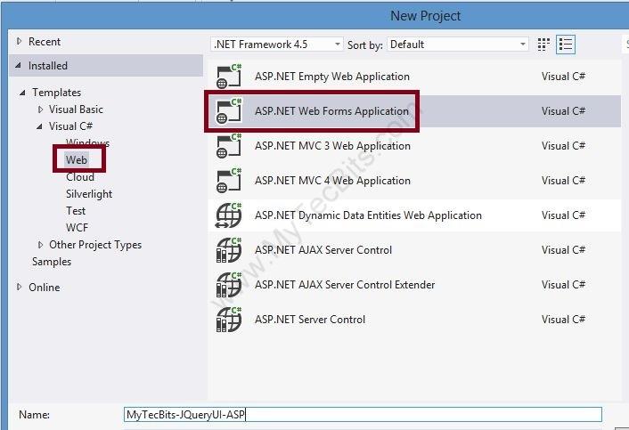 jQuery UI with ASP.NET - 01